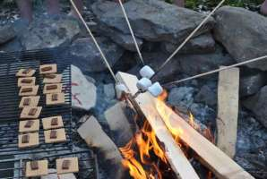 Elise Doucet S'mores Party July 1
